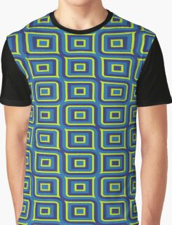 Blue yellow rectangles pattern Graphic T-Shirt