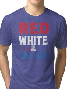 Red , white & awesome Tri-blend T-Shirt