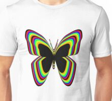 Multi-Colored Buttrfly Unisex T-Shirt
