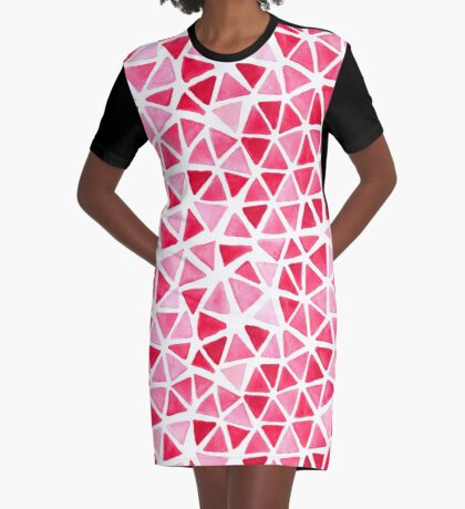 Imperfect Geometry Triangles Graphic T-Shirt Dress