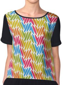 Colorful paint strokes Chiffon Top