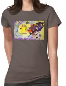 Yellow Red Blue Womens Fitted T-Shirt