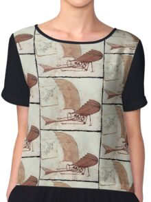 Da Vinci's flying machine Chiffon Top