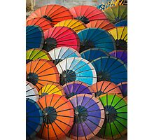Rainbow Parasols Photographic Print