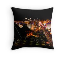 Luxor and The Strip Throw Pillow