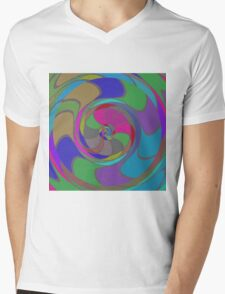 Colorful whirlpool Mens V-Neck T-Shirt