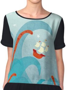A Bad Day For Sailors Chiffon Top