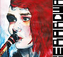 Gerard Way Hand Painted Portait by Revellion
