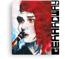 Gerard Way Hand Painted Portait Canvas Print