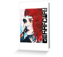 Gerard Way Hand Painted Portait Greeting Card