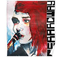Gerard Way Hand Painted Portait Poster