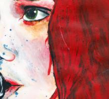 Gerard Way Hand Painted Portait Sticker
