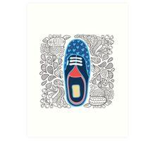 Doodle shoe Art Print