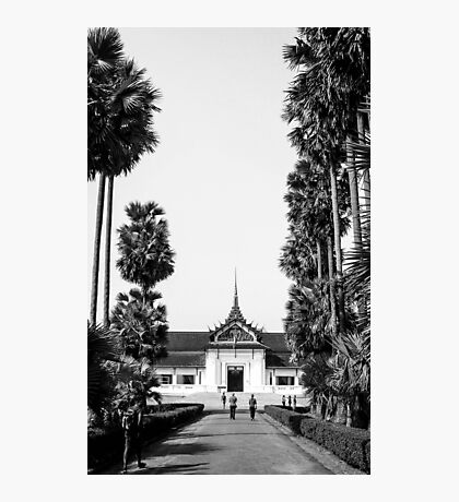 BW Temple Photographic Print