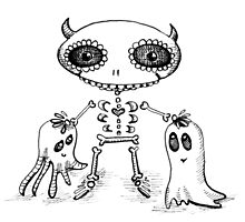 Skelly Devil & Friends Photographic Print