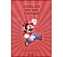 Mario Evolve of Die Trying Photographic Print