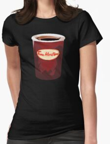 Tim Horton's Cup Vector Womens Fitted T-Shirt