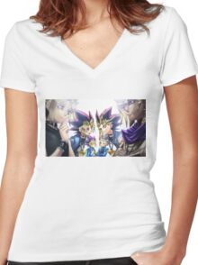 Yu-Gi-Oh! Generation Women's Fitted V-Neck T-Shirt