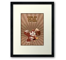 Donkey Kong Evolve of Die Trying Framed Print