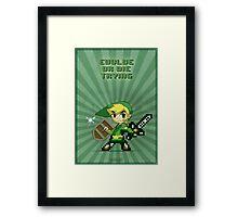 Link Evolve or die trying Framed Print