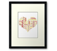 Words Framed Print