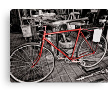 The Fireman's Bicycle Canvas Print