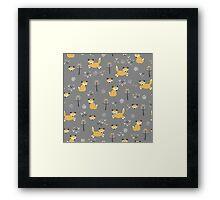Foxy Grey Framed Print
