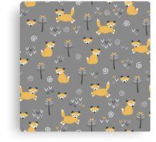 Foxy Grey Canvas Print