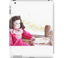 Antique Doll - Sewing a Quilt iPad Case/Skin