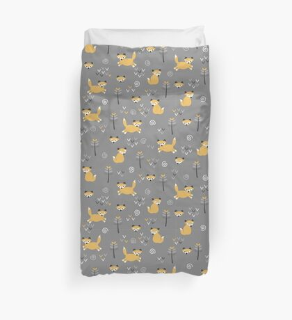 Foxy Grey Duvet Cover