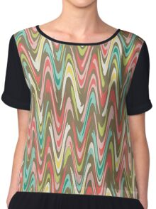 Waves pattern Chiffon Top
