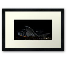 Lighting The Sails - Vivid 2014 - Inside Out Framed Print