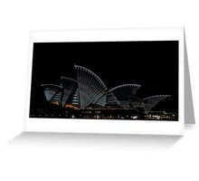 Lighting The Sails - Vivid 2014 - Inside Out Greeting Card