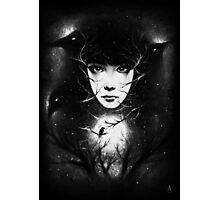 Moonlight Crows Photographic Print