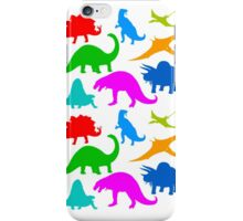 Dinosaur Multi-coloured Pattern iPhone Case/Skin