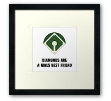 Diamonds Baseball Framed Print