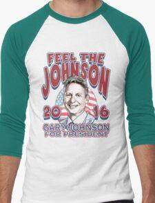 Feel The Johnson Election 2016 Men's Baseball ¾ T-Shirt
