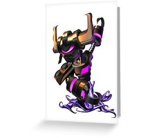 Vex, the martial arts expert. Greeting Card