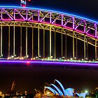 Vivid Opera House and Harbour Bridge by Erik Schlogl