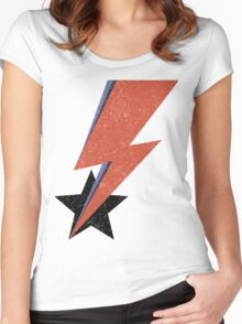 Aladdin Star Bowie Women's Fitted Scoop T-Shirt