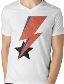 Aladdin Star Bowie Mens V-Neck T-Shirt