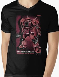 Zaku Char Mens V-Neck T-Shirt