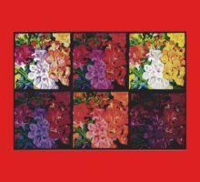 Six Panels of Flowers Baby Tee