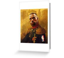 The King who became Cavalier Greeting Card