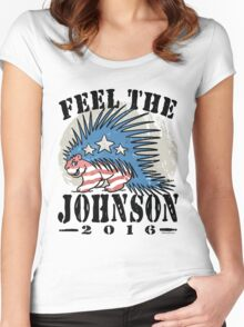 Feel The Johnson Libertarian Porcupine Women's Fitted Scoop T-Shirt