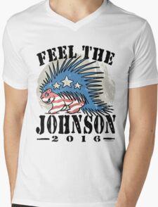 Feel The Johnson Libertarian Porcupine Mens V-Neck T-Shirt