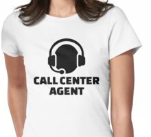 Call center agent Womens Fitted T-Shirt
