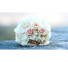 wedding bouquet of roses Photographic Print