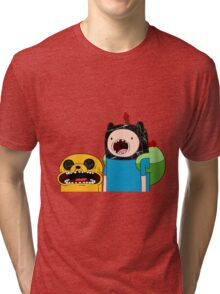 Adventure Time Jack and Finn  Tri-blend T-Shirt