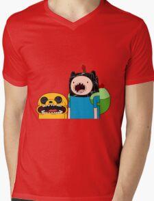 Adventure Time Jack and Finn  Mens V-Neck T-Shirt
